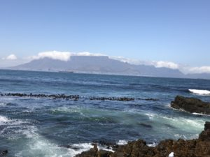 Table Mountain seen from Robben Island