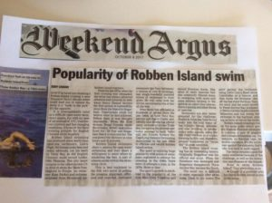 Argus Article on Popularity of Robben Island Swim
