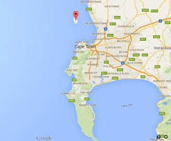 Map of Cape Town with Robben Island