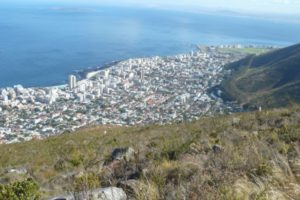 A view of Robben Island from Lions Head