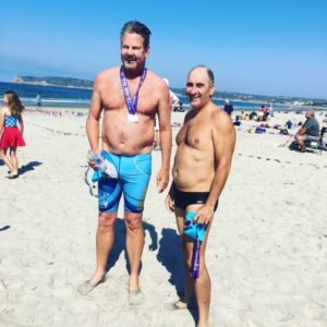 Steve Royce and Hilly after 4th of July swim