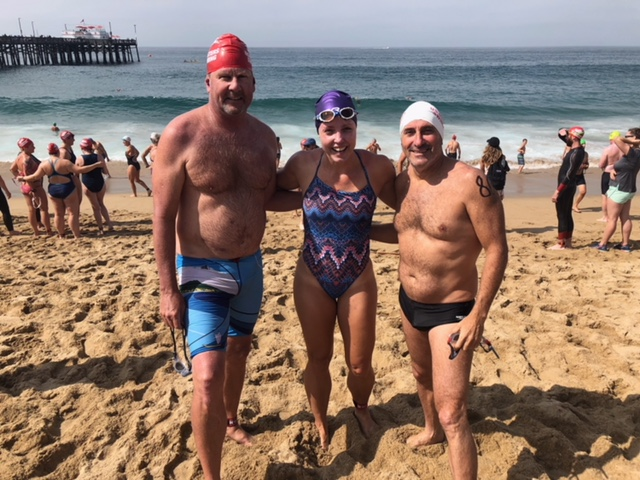 Steve, Sunny and Hilly at Newport Beach Pier to Pier Swim