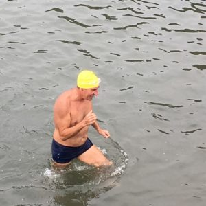 Hilly finishes swim