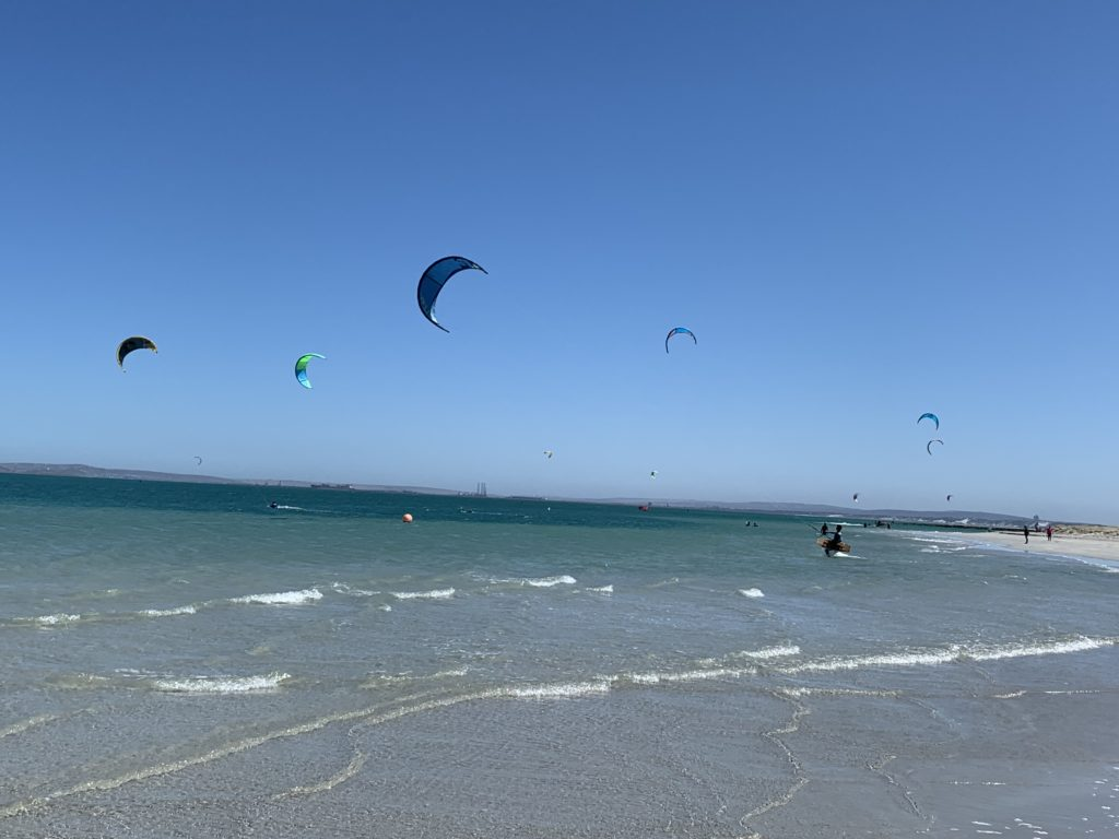 Kite surfers at Langebaan