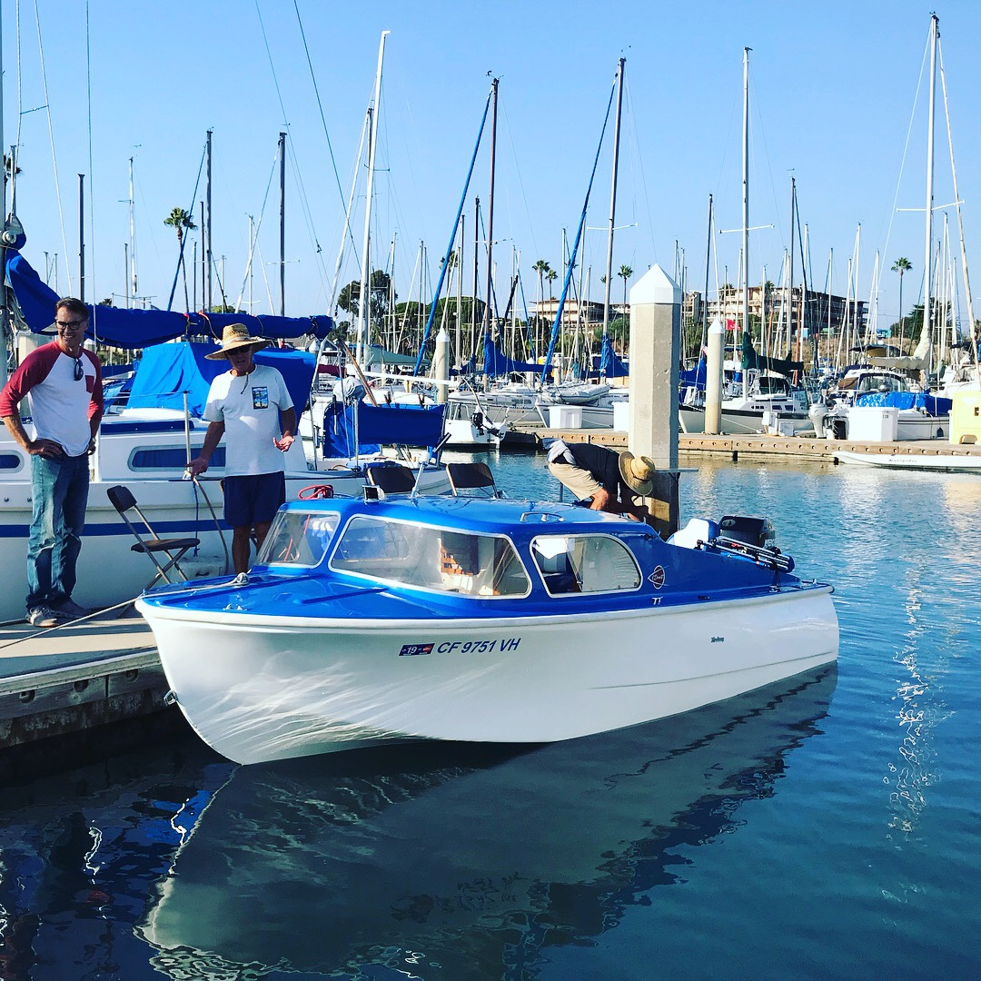 Andiamo in the water at Oceanside Harbor