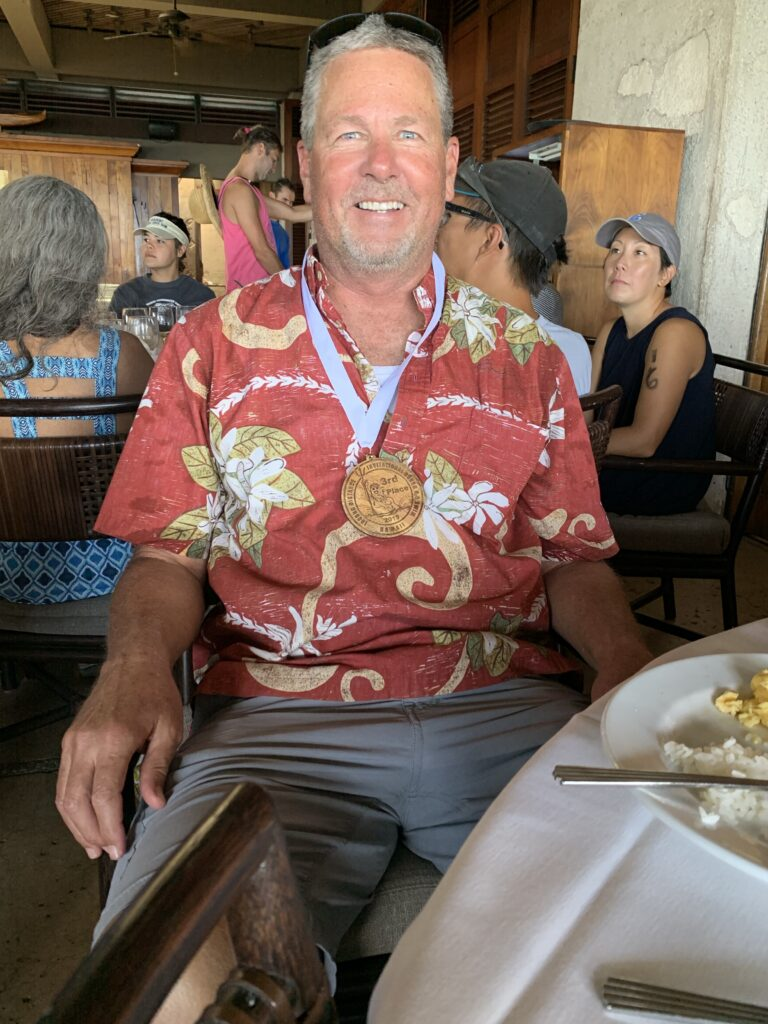 Steve Royce (at the awards ceremony after the Waikiki Invitational Swim 2019)